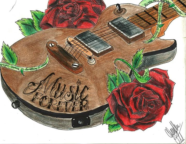 music forever - chandler ott only orginal pencil drawings