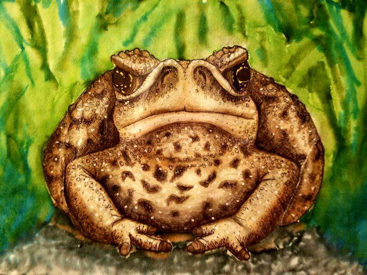 Grumpy toad - Silk Moon Studio