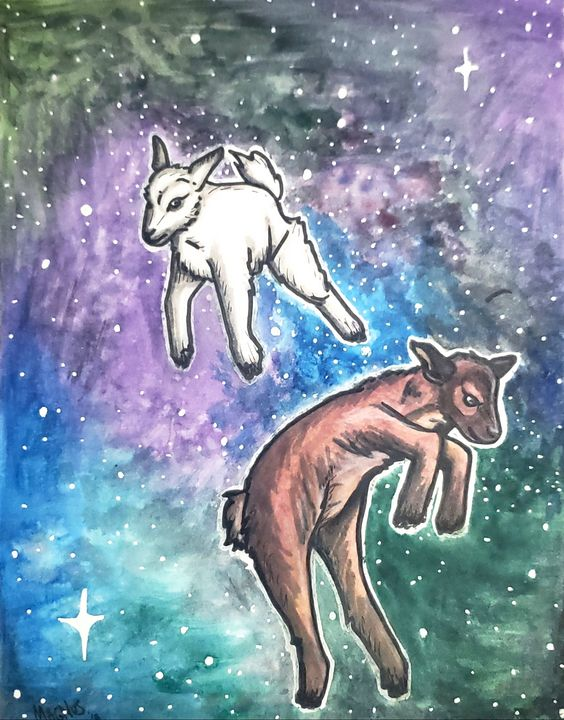 Space goats - Brit's Gallery