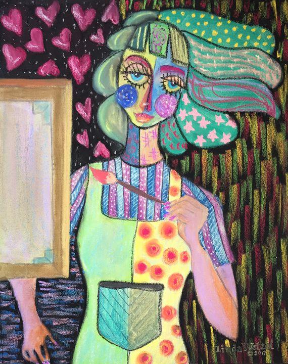 Self Portrait: Emerging Artist - Linda Wetzel Fine Art