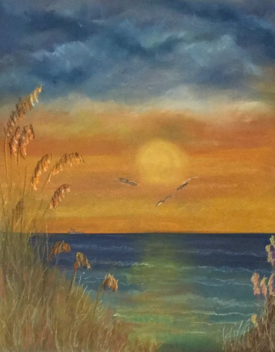 Sunset Beach - Linda Wetzel Fine Art
