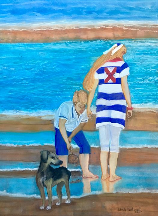 Summer Fun at the Beach - Linda Wetzel Fine Art