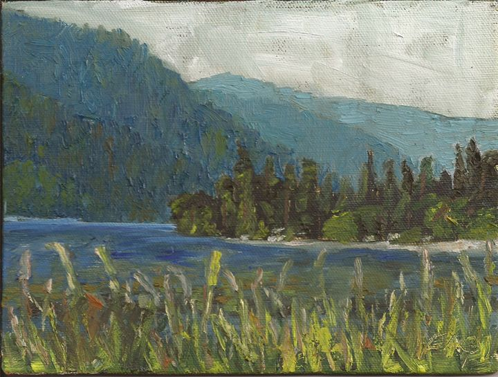 Across the Lake - Evelyn Oldroyd Painting
