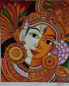 Ardhanarishvara Kerala Mural