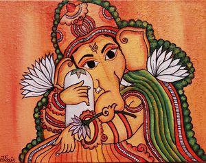 Ganesha Kerala Mural