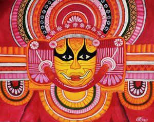 Theyyam Kerala Mural Art