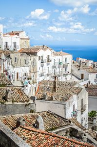 Monte Sant Angelo white houses roofs