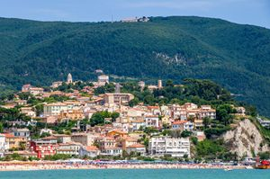 town of Numana Marche region italy