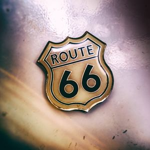 A Route 66 pin, the historic US High