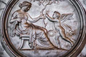 funerary art background cherub angel