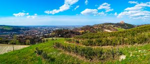 panoramic view hills Bologna italy