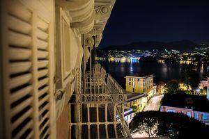 night view sea at night on Italian R