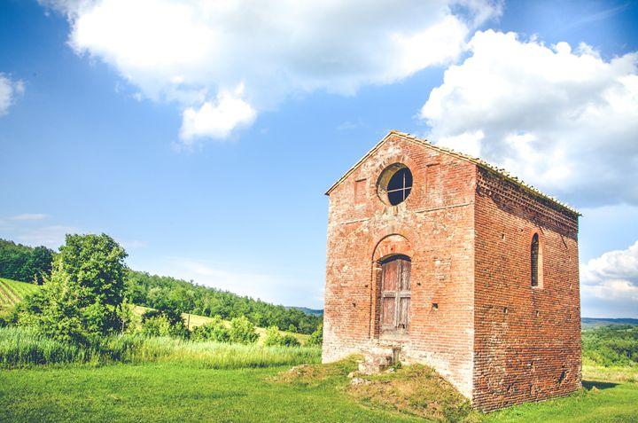 Old little church in tuscany - FineArt Italia