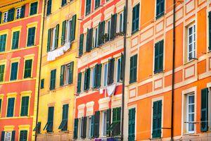 Italian style windows orange yellow