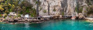 beautiful rocky berth of Punta Chiap