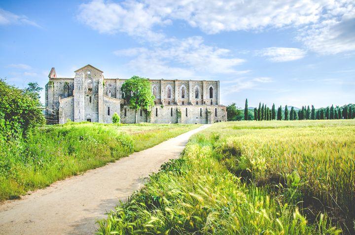 San Galgano Church ruins in Siena - FineArt Italia