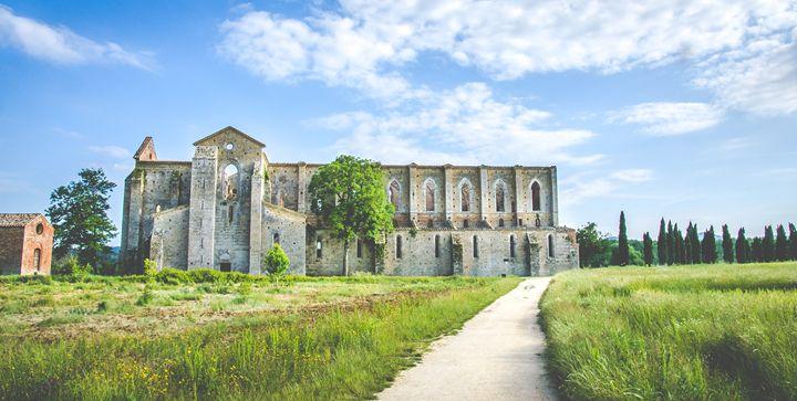 San Galgano ruins Siena tuscany - FineArt Italia