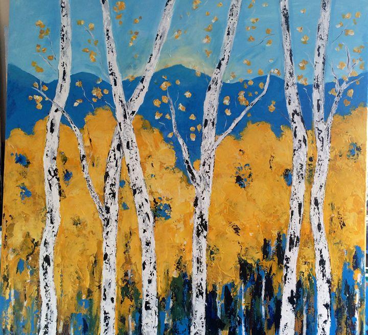Aspens Original Acrylic Painting - Vickis Art