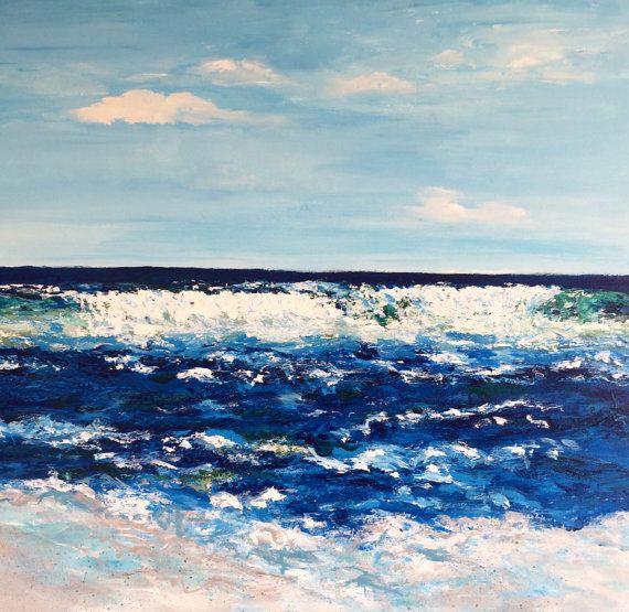 Maui Ocean 36x36 Original Painting - Vickis Art