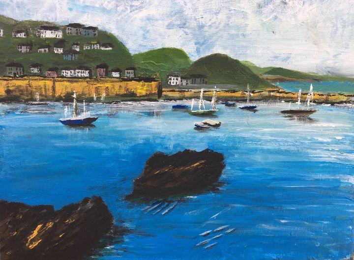 Cornish fishing harbour - David Jackson