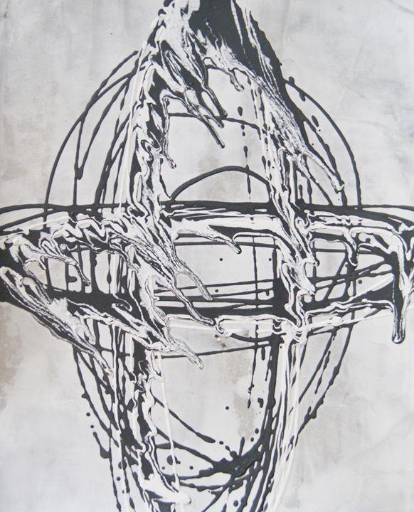 flying Cvh - Abstract Art By Lluís Miró