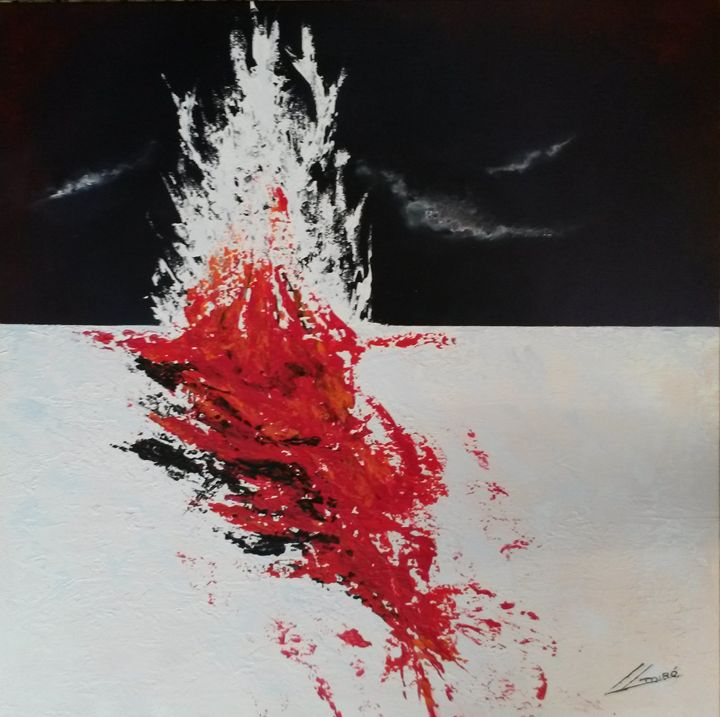 """ Last nigth in the antarctic "" - Abstract Art By Lluís Miró"