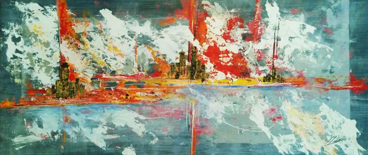 Mediterránea - Abstract Art By Lluís Miró