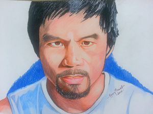 Realistic Drawing Of Manny Pacquiao