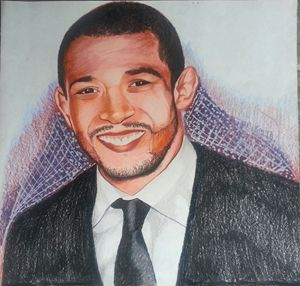Realistic Drawing Of Jose Aldo