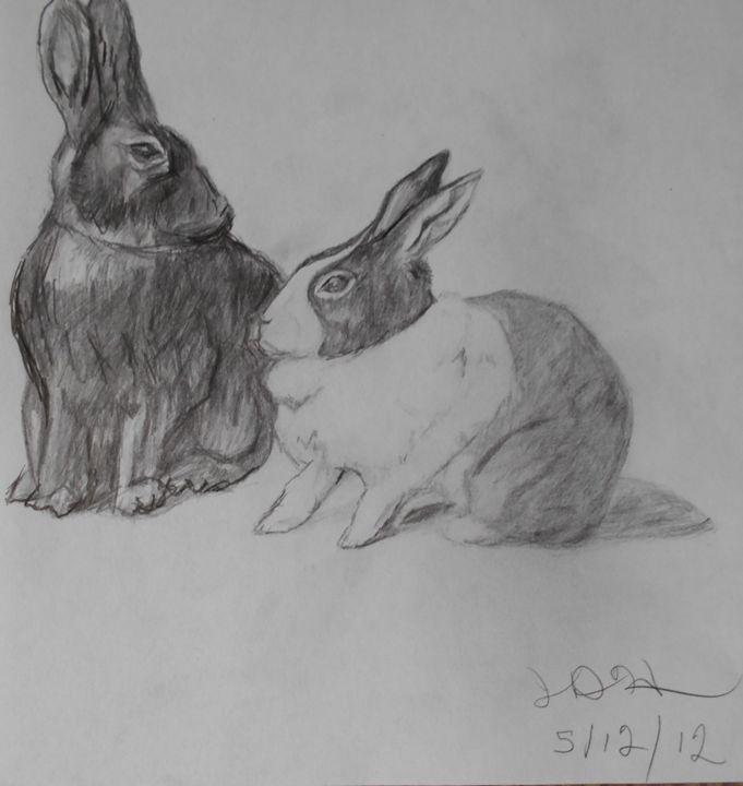 my Bunnies - RedBirds Art