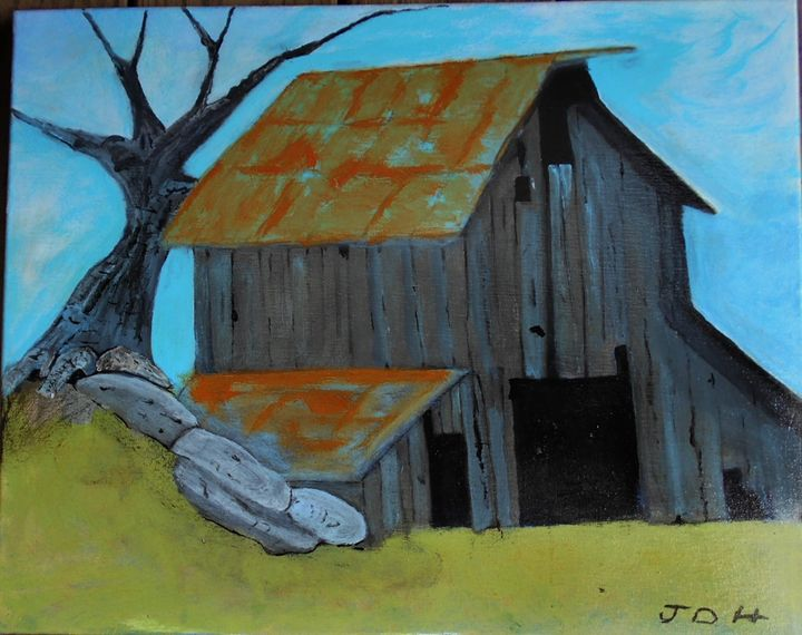 The Old Barn - RedBirds Art
