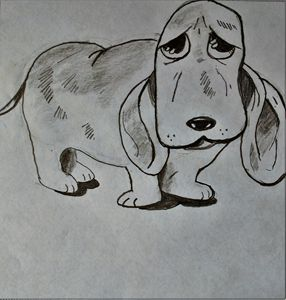 Sad Hound Dog