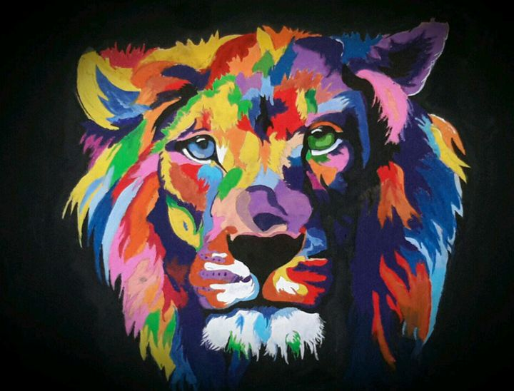 colourful lion - Christian mifsud