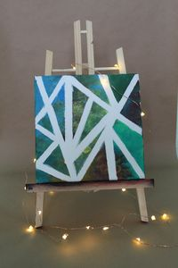 Green Abstract Acrylic painting