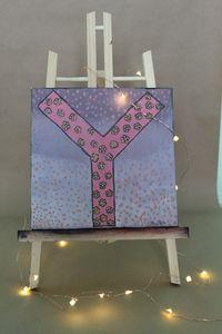 """Pink """"Y"""" wall decor"""