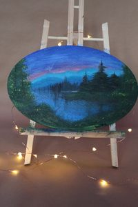 Mysterious Lake  Acrylic Painting
