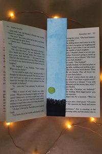 """Original Bookmark """"Bright night"""""""