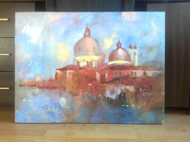 Mosque Landscape, Canvas Painting - class of 73