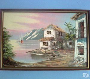 Oriental Scene Oil On Canvas