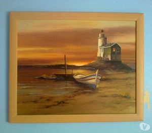 Lighthouse Scene Original Painting