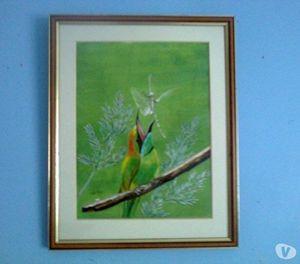 Bird And Dragonfly Acrylic Oil