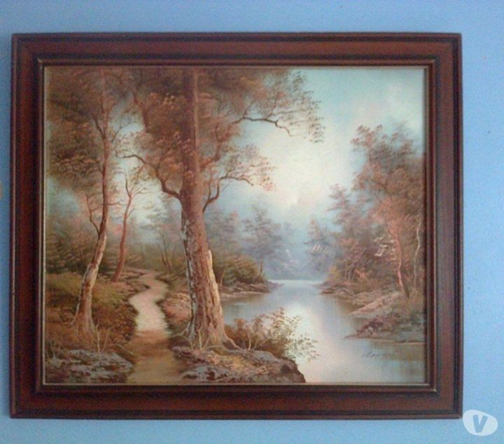 I Cafieri - Landscape Oil On Canvas - class of 73