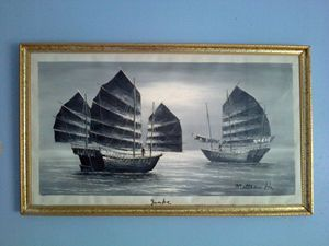 Matthew Ha - B&W Oil Painting - class of 73