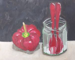 The Capsicum by the Cutlery