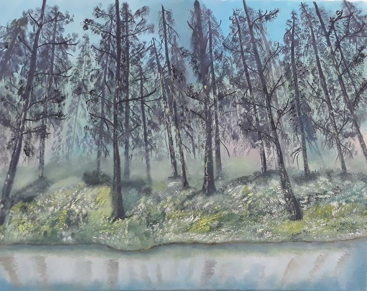 Misty Forest - prema_paintings