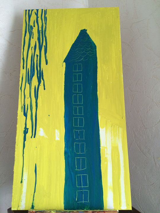 Blue skyscraper - sany