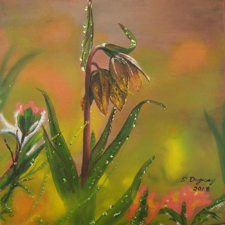 Chocolate Lily after the Rain - Sharon Duguay