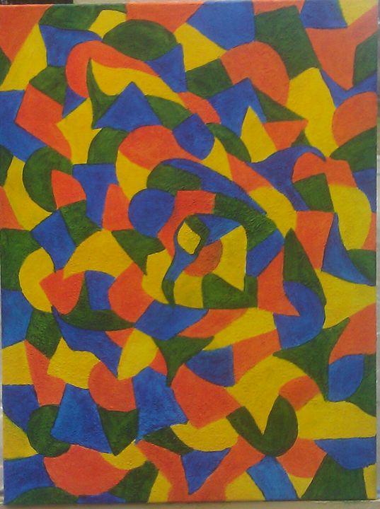 colorful goose - jims custom art