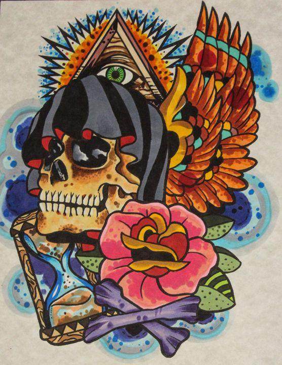 Reaper skull - Joseph Bergeron Gallery