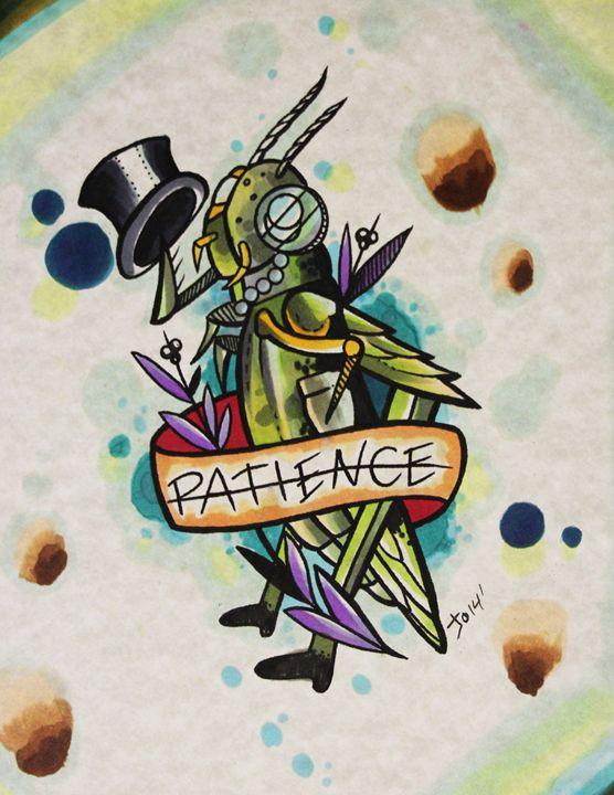 Patience Grasshopper - Joseph Bergeron Gallery